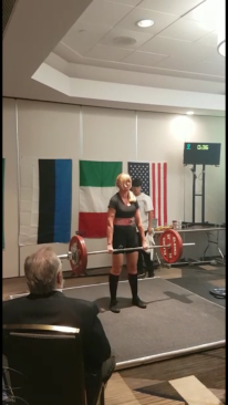 Katrin Deadlift European Record 136.5 kg