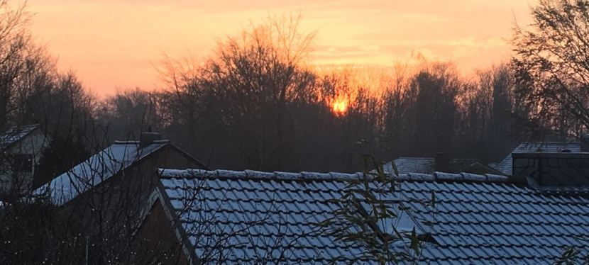 Sunrise in Gettorf, Germany – Sonnenaufgang inGettorf