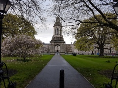 Trinity College in Spring