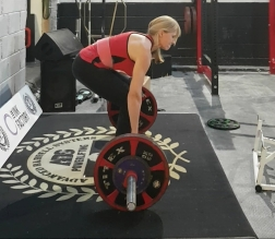 Deadlift training 125 kg